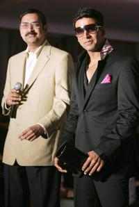 S. Krishnamoorthy and Akshay Kumar at the press conference in New Delhi.