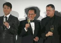 Leon Lai, Handel Lee and Wolff Heinrichsdorff at the 2006 Montblanc de la Culture Arts Patronage Award Ceremony.