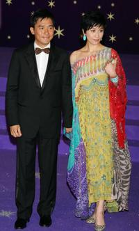 Tony Leung and Carina Lau at the 25th Hong Kong Film Awards.