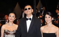 Carina Lau, director Wong Kar Wai and Charlie Young at the screening of