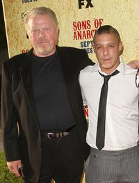William Lucking and Theo Rossi at the premiere of