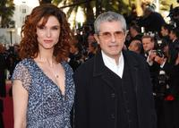 Claude Lelouch and his wife Alessandra Martines at the screening of