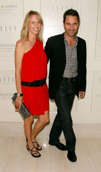 Janet Holden and her husband Eric McCormack at the Chef Gordon Ramsay's celebration opening party.