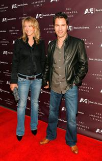 Janet and her husband Eric McCormack at the premiere screening of