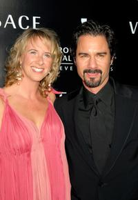Janet Holden and her husband Eric McCormack at the Rodeo Drive Walk of Style award.