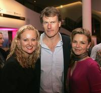Tracey Montgomery, William McInnes and Justine Clarke at the after party of the US premiere of