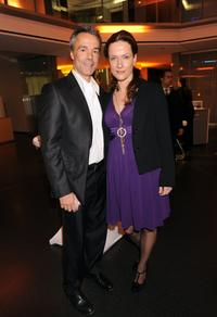 Hannes Jaenicke and Claudia Michelsen at the ARD Dinner.