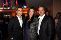 Erol Sander, Claudia Michelsen and Hannes Jaenicke at the ARD Dinner.