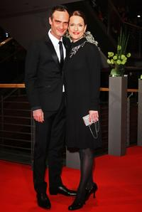 Anatole Taubmann and Claudia Michelsen at the premiere of