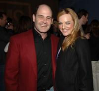 Matthew Weiner and Elisabeth Moss at the after party of the premiere of