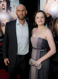 David L. Bushell and Elisabeth Moss at the California premiere of