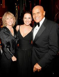 Desiree Nosbusch, Harry Belafonte and Guest at the Goldene Kamera 2010 Award in Germany.