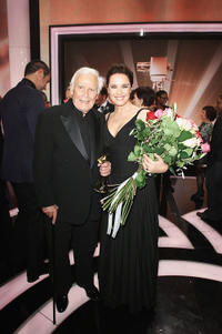 Joachim Fuchsberger and Desiree Nosbusch at the Goldene Kamera 2010 Award in Germany.