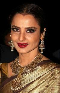 Rekha at the launch of photographer Gautam Rajadhyaksh's Marathi coffee table book