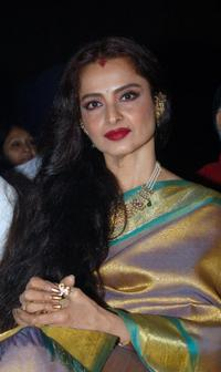 Rekha at the premiere of