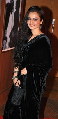 Rekha at the Hyatt Hotel in Mumbai.