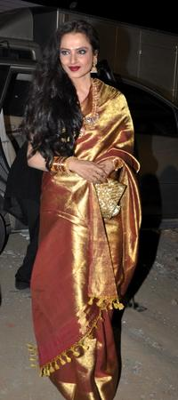 Rekha poses at the Awards Ceremony in Mumbai.