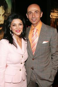 Shohreh Aghdashloo and Shaun Toub at the premiere of