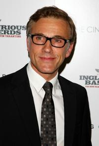 Christoph Waltz at the Cinema Society and Hugo Boss screening of
