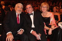 Mario Adorf and Elmar Wepper and Anita Schlierf at the German Film Award 2008.