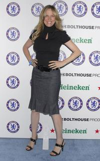 Kari Whitman at the Chelsea Football Club party.