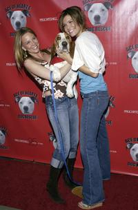 Kari Whitman and Mandy Moore at the Hollywood Dog Bowl.