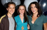 Jonathan Jackson, Alexis Bledel and Lauren Graham at the Bledel's 21st Birthday party celebration.