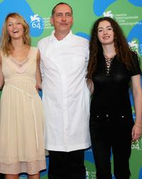 Stephanie de Crayencour, Serge Renko and Mathilde Mosnier at the photocall of