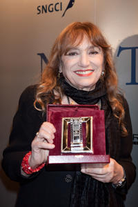 Piera Degli Esposti at the 2009 Nastri D'Argento Nominations Dinner Party in Italy.