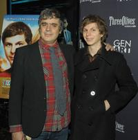 Miguel Arteta and Michael Cera at the special screening of