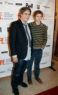 Miguel Arteta and Michael Cera at the 2009 Toronto International Film Festival.