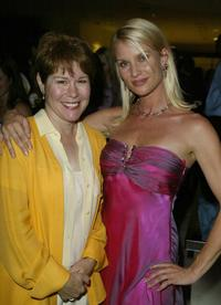 Christine Estabrook and Nicollette Sheridan mingle at the Desperate Housewives premiere party.