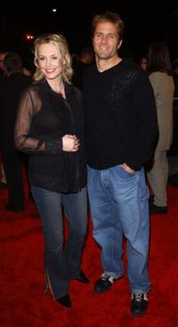 Josie Bissett and her husband Rob Estes at the premiere of