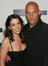 Vin Diesel and Annabella Sciorra at the premiere of