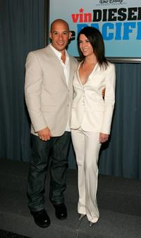 Vin Diesel and Lauren Graham at the premiere of