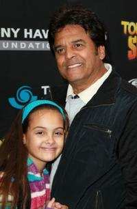 Francesca Estrada and Erik Estrada at the Tony Hawk Foundation benefit.