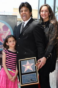 Fransesca Estrada, Erik Estrada and Nanette Estrada at the Hollywood Walk of Fame.