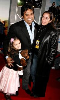Fransesca Estrada, Erik Estrada and Nanette Estrada at the premiere of