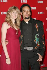 Laura Dern and Ben Harper at the EMI Post Grammy party.