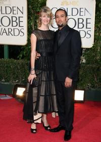 Laura Dern and Ben Harper at the 66th Annual Golden Globe Awards.