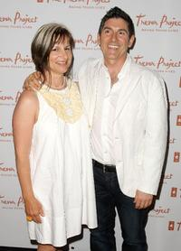 Peggy Rajski and James Lecesne at the 8th Annual The Trevor Project Benefit Gala.