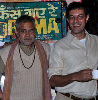 Sanjay Mishra and Rajat Kapoor at the press conference of