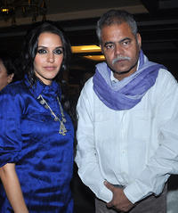 Neha Dhupia and Sanjay Mishra at the music launch of