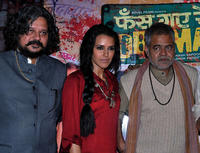 Amol Gupte, Neha Dhupia and Sanjay Mishra at the press conference of
