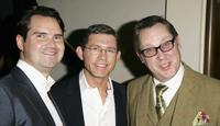 Jimmy Carr, Lee Evans and Jim Moir at the South Bank Show Awards.
