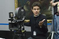 Director Tom Tykwer on the set of