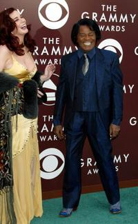 James Brown and his Wife at the 47th Annual Grammy Awards.