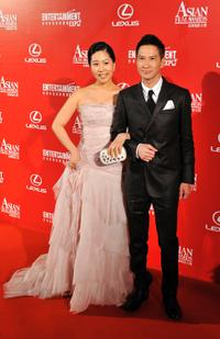 Kim Ji-yeong and Nick Cheung at the Asian Film Awards 2009.