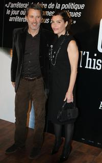 Antoine de Caunes and Daphnee Roulier at the screening of