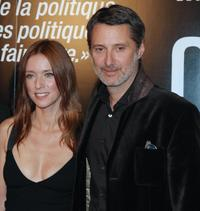 Lea Drucker and Antoine de Caunes at the screening of